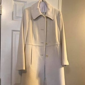 Anne Klein White Winter Coat